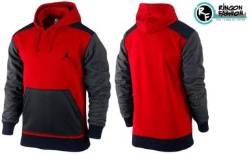 venta polera jordan retro red grey black rinconfashion