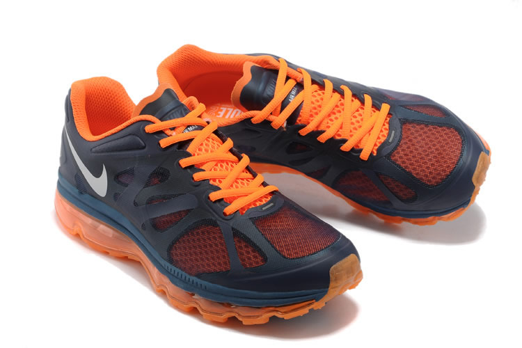 zapatillas air max 2012 blue orange hombre rinconfashion
